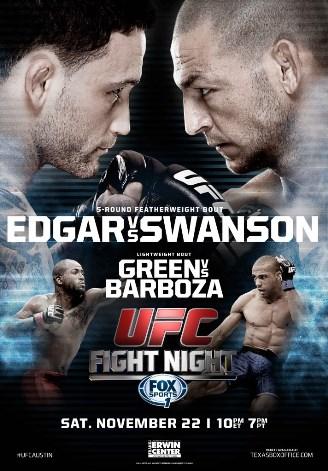 Постер UFC Fight Night — Edgar vs. Swanson