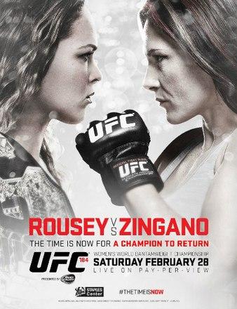 Постер UFC 184: Rousey vs. Zingano