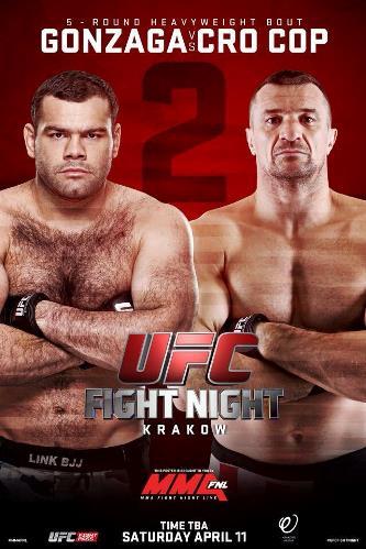 Постер UFC Fight Night: Gonzaga vs. Cro Cop 2