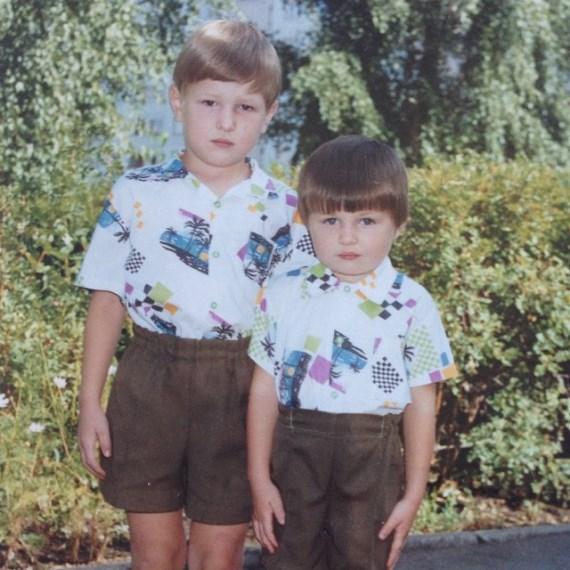 Владимир Минеев с братом