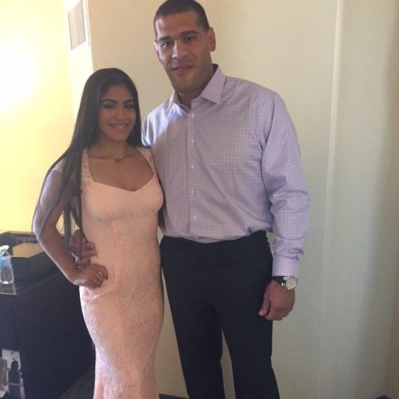 Антонио Силва с дочерью