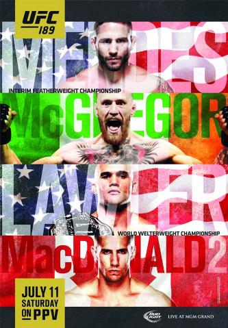 Постер UFC 189: Mendes vs. McGregor