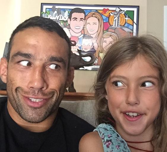 Фабрисио Вердум с дочерью
