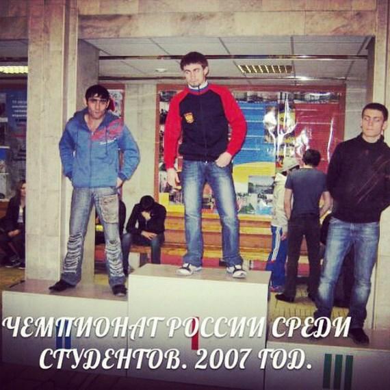 2007 г., Али Багаутинов на чемпионате России среди студентов по боевому самбо