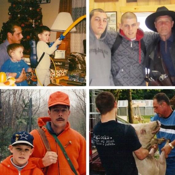 Джо Лозон с отцом и братом