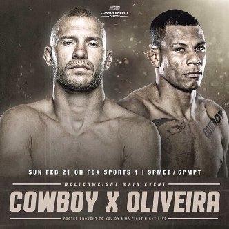 Результаты и бонусы UFC Fight Night: Cowboy vs. OliveiraРезультаты и бонусы UFC Fight Night: Cowboy vs. Oliveira