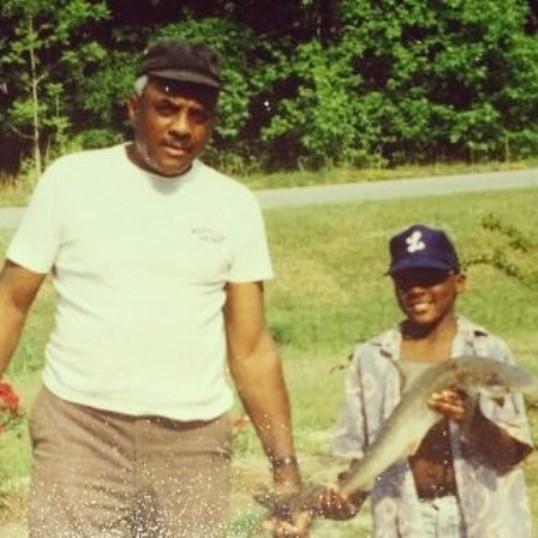 Энтони Джонсон с отцом