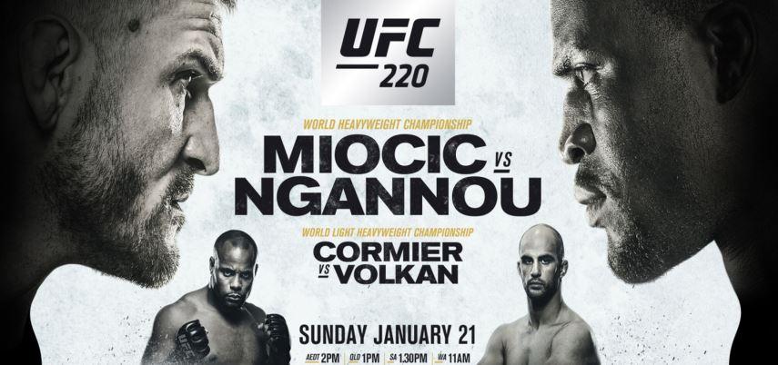 Результаты и бонусы UFC 220: Miocic vs. Ngannou