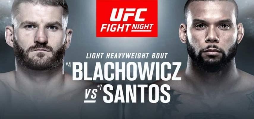 Результаты и бонусы UFC on ESPN+ 3: Blachowicz vs. Santos