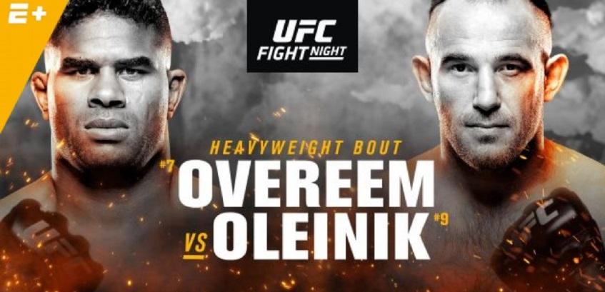 Результаты и бонусы UFC on ESPN+ 7: Overeem vs. Oleinik
