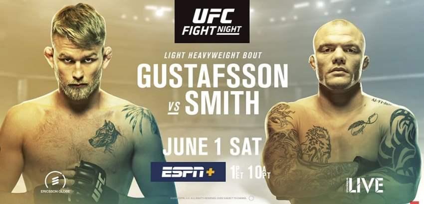 Результаты и бонусы UFC Fight Night 153: Gustafsson vs. Smith