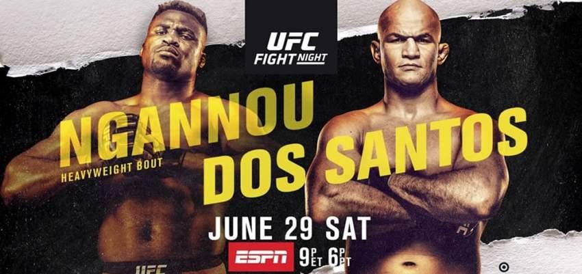 Результаты и бонусы UFC on ESPN 3: Ngannou vs. dos Santos