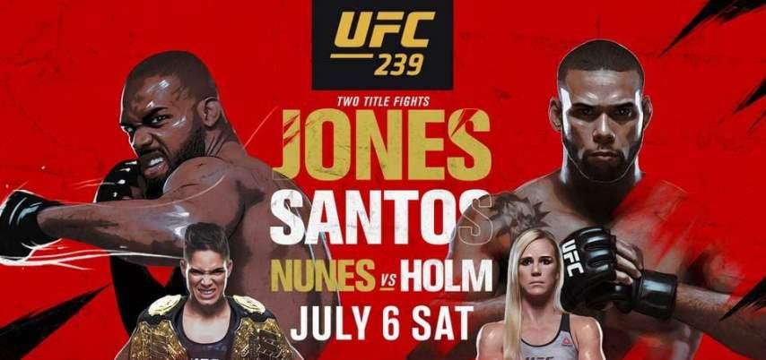 Результаты и бонусы UFC 239: Jones vs. Santos