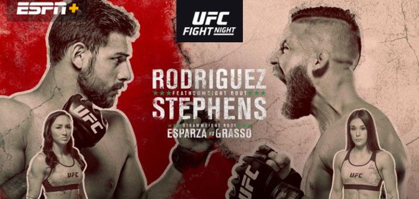 Результаты и бонусы UFC Fight Night 159: Rodriguez vs. Stephens