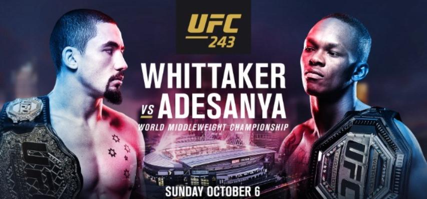 Результаты и бонусы UFC 243: Whittaker vs. Adesanya