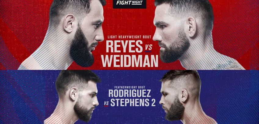 Результаты и бонусы UFC on ESPN: Reyes vs. Weidman