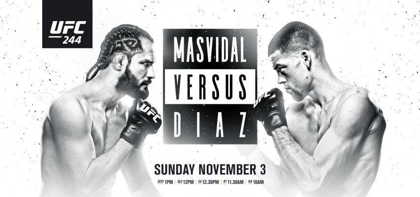 Результаты и бонусы UFC 244: Masvidal vs. Diaz