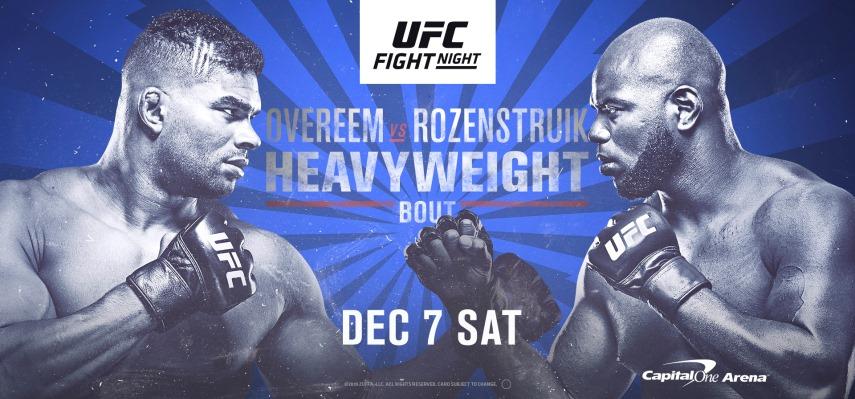 Результаты и бонусы UFC on ESPN 7: Overeem vs. Rozenstruik