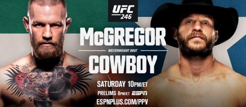 Результаты и бонусы UFC 246: McGregor vs. Cerrone
