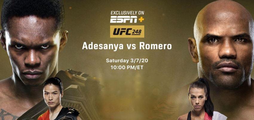 Результаты и бонусы UFC 248: Adesanya vs. Romero