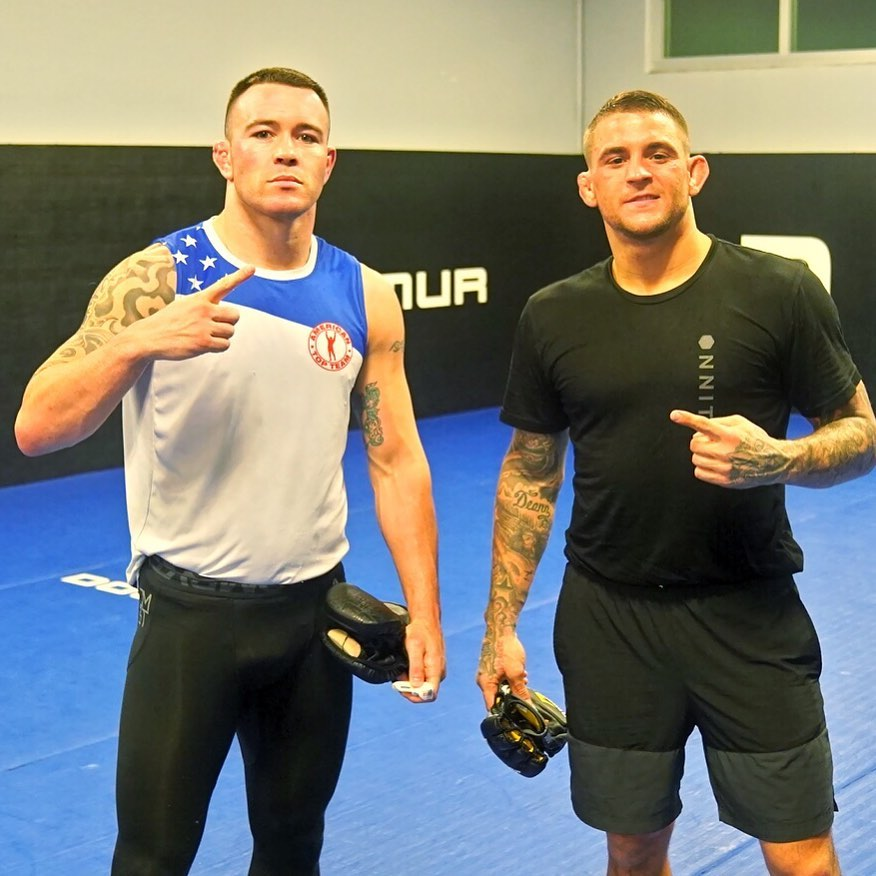 Colby Covington posted a video of Dustin Poirier dropping amateur during sparring.