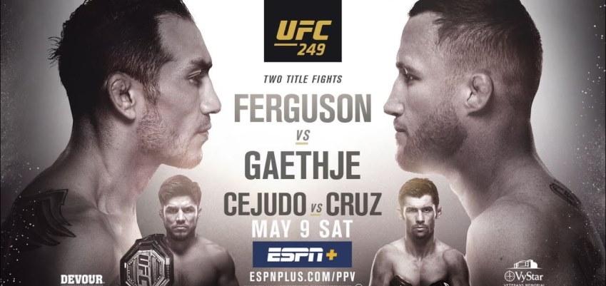 Результаты и бонусы UFC 249: Ferguson vs. Gaethje