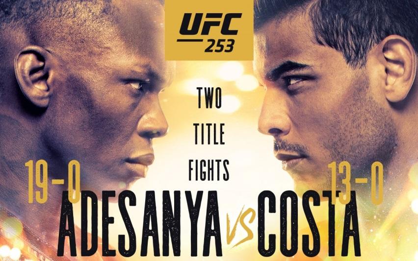Результаты и бонусы UFC 253: Adesanya vs. Costa
