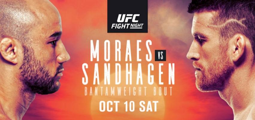 Результаты и бонусы UFC Fight Night 179: Moraes vs. Sandhagen
