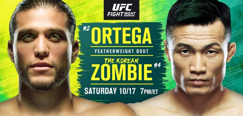 Результаты и бонусы UFC Fight Night 180: Ortega vs. Korean Zombie