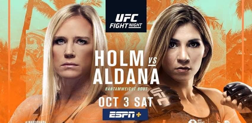 Результаты и бонусы UFC on ESPN 16: Holm vs. Aldana