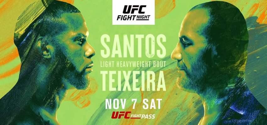 Результаты и бонусы UFC on ESPN 17: Santos vs. Teixeira