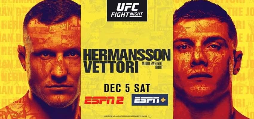 Результаты и бонусы UFC on ESPN 19: Hermansson vs. Vettori