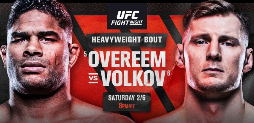Результаты и бонусы UFC Fight Night 184: Overeem vs. Volkov