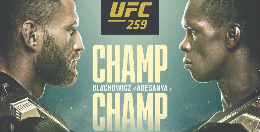 Результаты и бонусы UFC 259: Adesanya vs. Blachowicz