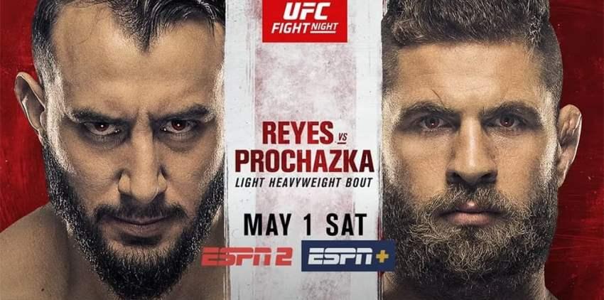Результаты и бонусы UFC on ESPN 23: Reyes vs. Prochazka