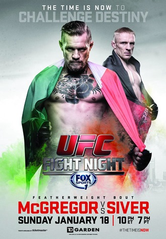 Постер UFC Fight Night: McGregor vs. Siver