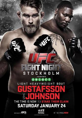 Постер UFC on Fox: Gustafsson vs. Johnson