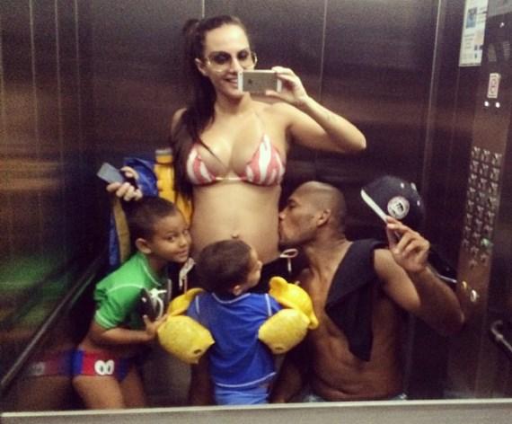 Роналдо Соуза с семьей