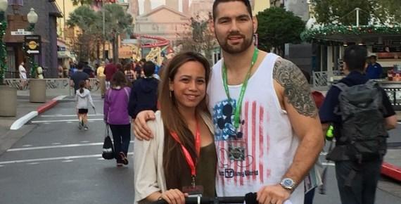 Крис Уайдман с супругой