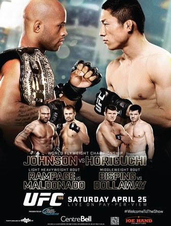 Постер UFC 186: Johnson vs. Horiguchi
