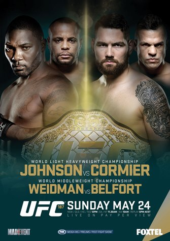 Постер UFC 187: Johnson vs. Cormier