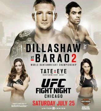 Постер UFC on Fox: Dillashaw vs. Barão 2