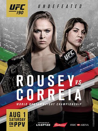 Постер UFC 190: Rousey vs. Correia