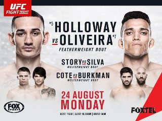 Постер UFC Fight Night: Holloway vs. Oliveira