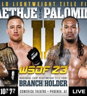 Постер WSOF 23: Gaethje vs. Palomino II