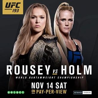 Постер UFC 193: Rousey vs. Holm