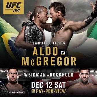 Результаты и бонусы UFC 194: Aldo vs McGregor
