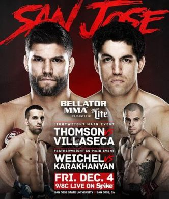 Результаты Bellator 147: Thomson vs. Villaseca