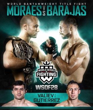 Результаты WSOF 28: Moraes vs. Barajas