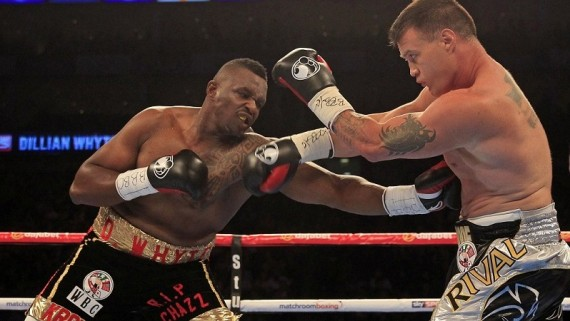Dillian Whyte v  Brian Minto - WBC International Silver Heavyweight Title - O2 Arena - 12/9/15 - Picture : Lawrence Lustig
